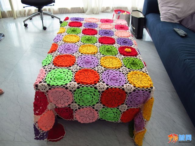 手工编织 毯子
