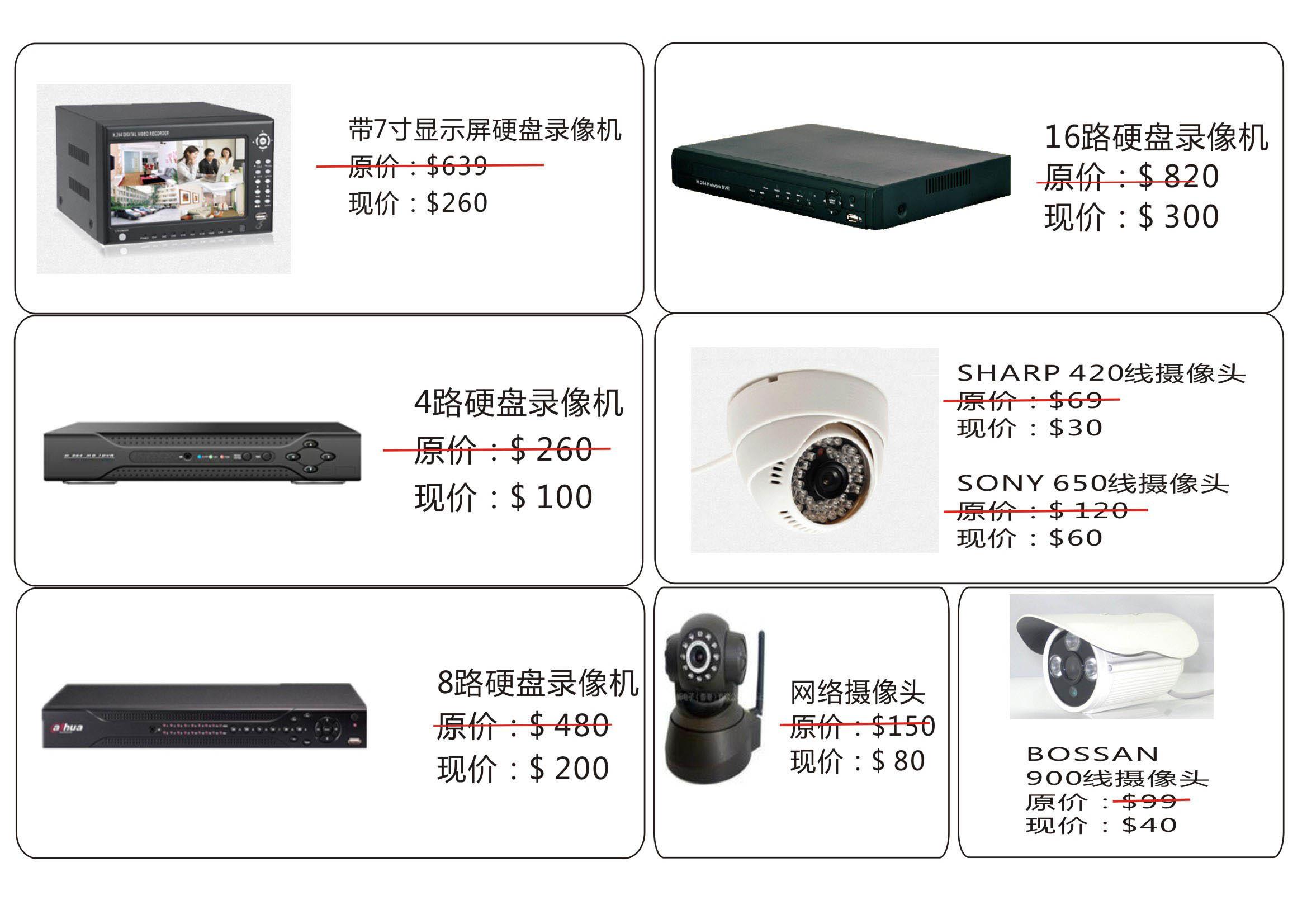 亏本卖一批全新cctv电眼摄像头监控设备tel:84582812