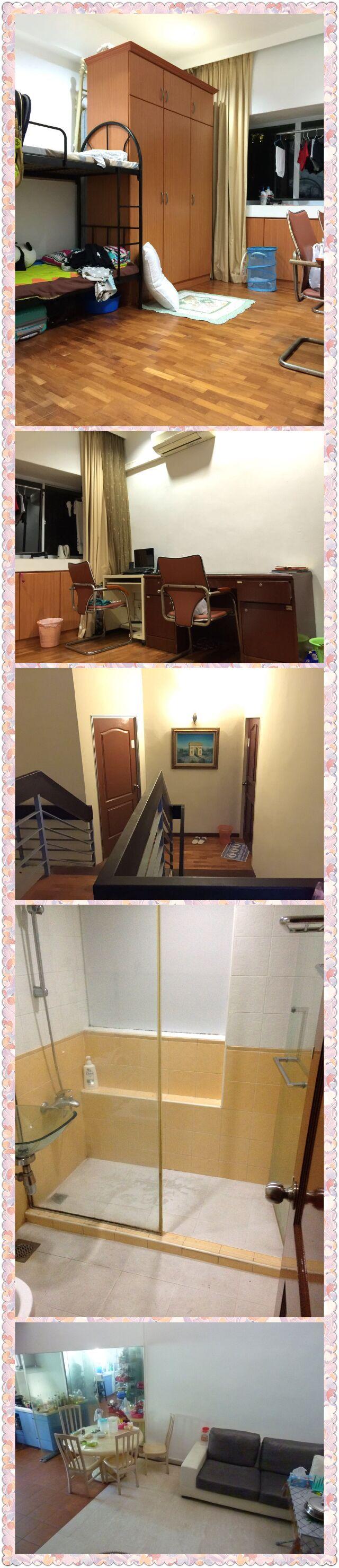 出租近国大,SIM,Nexus国际学校,金文泰MRT公寓普通房男床位