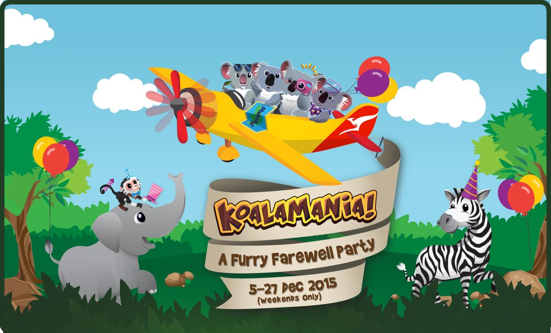com 新加坡动物园为可爱的小考拉们策划了全天的欢送会,将会有一系列