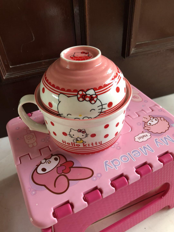 全新HelloKitty餐具,陶瓷