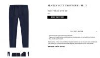 出售刚买的BenJamin Barker 海军蓝西裤 原价178 现价35 腰围43