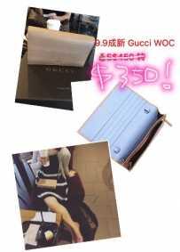 9.99成新正品Gucci专柜购入多功能钱包带肩带