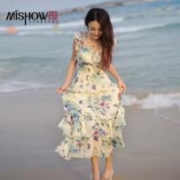 波西米亚 旅游 雪纺 沙滩 小清新 连衣裙