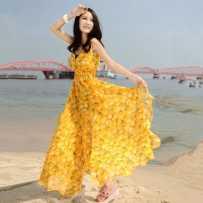 波西米亚 旅游 度假 雪纺 沙滩 小清新 连衣裙