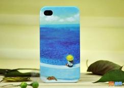 Jimmy iPhone 4 4S 几米漫画磨砂彩绘外壳