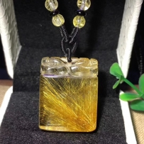 天然完美金发晶貔貅吊坠(2款)