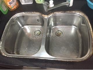 洗碗池漏水维修前