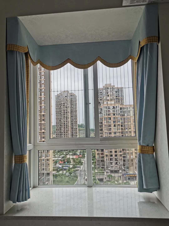 防护网+窗帘