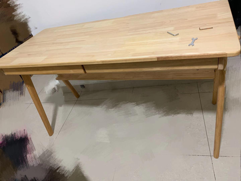 9成新实木1.4m电脑桌