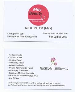 靠近 Jurong Point, $48 优惠美容服务,不卖产品,纯服务。