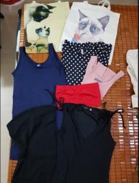 连身裙,包包,长袖上衣,短袖,红色,黑色内搭