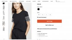 因搬家 出闲置衣服 kenzo短袖 购于shopbop网站 仅穿过一次