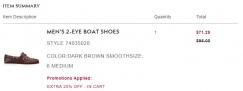 出售全新Timberland潮鞋: 船鞋MEN'S 2-EYE BOAT SHOES STYLE 74035028