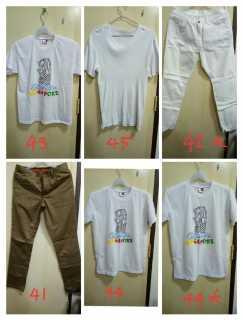 男生 T恤,裤子,便宜甩卖,$10块三件起。