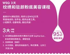 推荐WSQ3天驻颜粉底美容眉毛绣课程新加坡独家课程新公民大于40岁只要$50