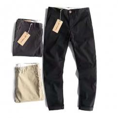 工厂特价出 男士 纯 棉 多口袋 工装束脚裤