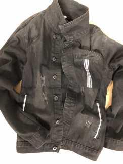 全新黑色运动牛仔衣