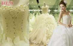 出售高档珍珠婚纱一件