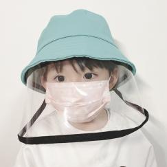 儿童优质防护面罩带防护口罩,全透明,防雾防飞沫,180°全脸保护