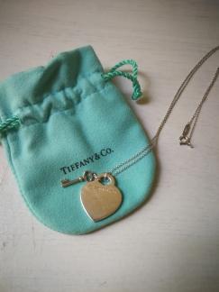 Tiffany蒂芙尼经典心锁纯银项链