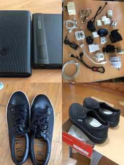 超大号超长13号全新休闲鞋、全新40号安全鞋,各数据线、充电器、耳机、充电宝一个