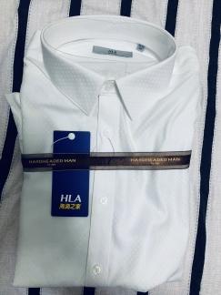 全新!海澜之家男士长袖衬衣。白色$25蓝色$30