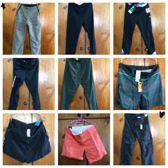 全新衬衫、运动长短裤、运动紧身裤、运动鞋、游泳安全救生背心、游泳帽、乒乓球拍