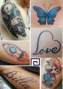专业纹身师给你身体做美图