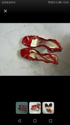 全新女高跟鞋39码 S$20