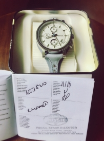 已售---FOSSIL全新正品女式手表 (英国出差带回)-ES3820