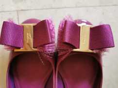 9 成新ferragamo漆皮鞋