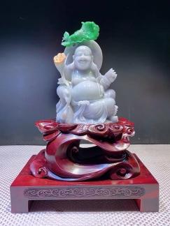 从缅甸购买的翡翠,还没去寺庙开光的弥勒佛,转让给有缘人