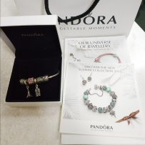 Pandora 手镯, 含6个旅游系列charms ($250)