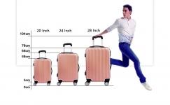 通用轮式行李拉杆箱 拉链款24/28英寸