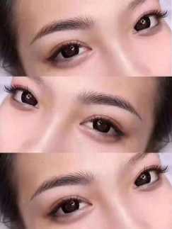 专业用机器做韩式半永久眉眼唇