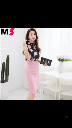 全新粉红色裙子出售$35