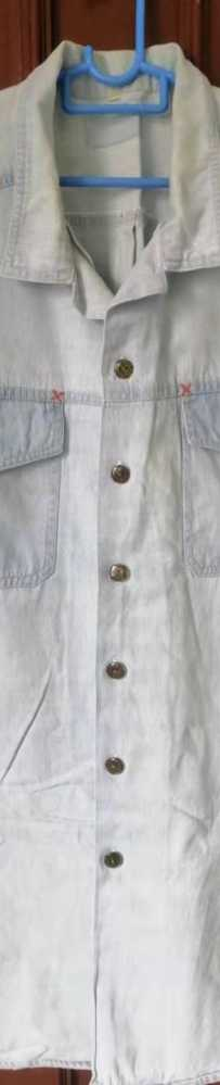 短袖牛仔衬衫S$4