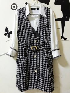 全新国内专柜品牌ONLY小香风套装裙