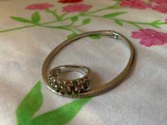 碧玺戒指、翡翠手镯