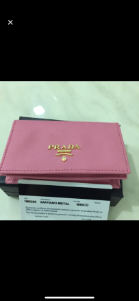 【出售】限量版 粉红色Prada 信用卡卡包