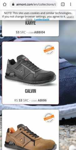 全新的Aimont牌子的安全工作鞋(前面是铁头)