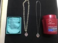 转两条Tiffany 心形项链