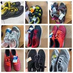 运动鞋号有30、35、36、38、39、45号,运动紧身裤、运动长短裤,橙色短裤